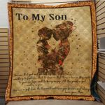 Personalized To My Son From Mom You Are A Gift From Heaven Quilt Blanket Great Customized Gifts For Birthday Christmas Thanksgiving