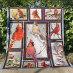 3d Cardinal On The Tree Quilt Blanket Great Customized Blanket Gifts For Birthday Christmas Thanksgiving