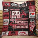 Wrestling Keep Your Head Up Quilt Blanket Great Customized Gifts For Birthday Christmas Thanksgiving Perfect Gifts For Wrestling Lover
