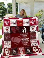Oklahoma Sooners – To My Grandson – Love Grandmom Quilt Blanket