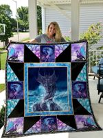 Purple Dragon Quilt Blanket Great Customized Gifts For Birthday Christmas Thanksgiving Perfect Gifts For Dragon Lover