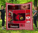 Ncaa Louisville Cardinals Quilt Blanket #128