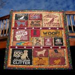 This Isn't Dog Hair It's Labrador Glitter Quilt Blanket Great Customized Blanket Gifts For Birthday Christmas Thanksgiving