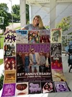 Deep Purple 51th Anniversary Quilt Blanket Great Customized Blanket Gifts For Birthday Christmas Thanksgiving