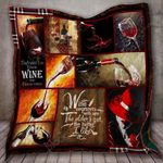 Wine Improves With Age The Older I Get The Better I Like It Quilt Blanket Great Customized Blanket Gifts For Birthday Christmas Thanksgiving