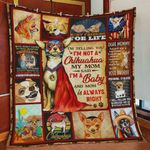 I'm Telling You I'm Not A Chihuahua My Mom Said I'm A Baby Quilt Blanket Great Customized Blanket Gifts For Birthday Christmas Thanksgiving