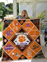 Clemson Tigers 9 Quilt Blanket