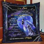 Personalized Wolf Family To My Son Quilt Blanket From Mom My Love Will Follow You Quilt Blanket Great Customized Blanket Gifts For Birthday Christmas Thanksgiving