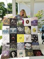 Arcade Fire Quilt Blanket