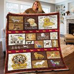 I Love My Golden Retriever To The Moon And Back Quilt Blanket Great Customized Blanket Gifts For Birthday Christmas Thanksgiving