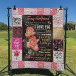 Personalized Flower To My Girlfriend Quilt Blanket From Boyfriend I Love You With My Whole Heart Great Customized Blanket Gifts For Birthday Christmas Thanksgiving