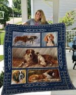Cute St Bernard Picture Collection Quilt Blanket Great Customized Blanket Gifts For Birthday Christmas Thanksgiving
