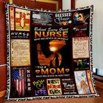 Behind Every Great Nurse Is A Mom Quilt Blanket Great Customized Gifts For Birthday Christmas Thanksgiving