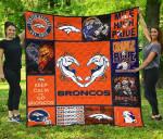 Bc – Denver Broncos Quilt Blanket Ver 02