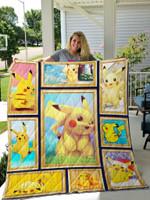 Pikachu Quilt Blanket