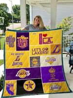 Los Angeles Lakers Quilt Blanket 01