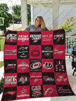 Carolina Hurricanes Quilt Blanket Ver 25