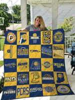 Indiana Pacers Quilt Blanket Ver 25