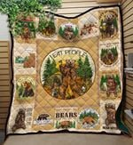 Bear Lets Go Camping Quilt Blanket Great Customized Blanket Gifts For Birthday Christmas Thanksgiving