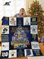 Notre Dame Fighting Irish Christmas Tree Quilt Blanket