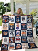 Denver Broncos Quilt Blanket Ver 25