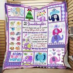 Personalized Baby Elephant To My Granddaughter Quilt Blanket Never Stop Believing In Yourself Great Customized Blanket Gifts For Birthday Christmas Thanksgiving