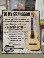 Personalized Guitar To My Grandson Quilt Blanket From Grandma I Can Promise To Love You For The Rest Of Mine Great Customized Blanket Gifts For Birthday Christmas Thanksgiving