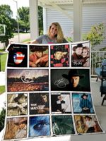 Garth Brooks Albums Quilt Blanket 02