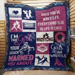 Wrestling Girl Everything Else In Life Is Easy Quilt Blanket Great Customized Gifts For Birthday Christmas Thanksgiving Perfect Gifts For Wrestling Lover