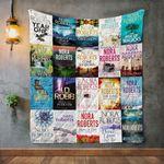 Nora Roberts Books Quilt Blanket