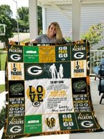 Green Bay Packers – To My Son – Love Mom And Dad Quilt Blanket