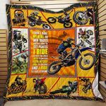 Motocross I Don't Ride My Bike To Win Races I Ride To Feel Strong Quilt Blanket Great Customized Blanket Gifts For Birthday Christmas Thanksgiving