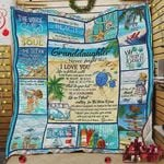 Personalized Ocean To My Granddaughter Quilt Blanket From Grandma Never Forget That I Love You Great Customized Blanket Gifts For Birthday Christmas Thanksgiving