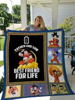 Dragon Ball Father And Son Best Friend For Life Quilt Blanket Great Customized Blanket Gifts For Birthday Christmas Thanksgiving