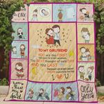 Personalized To My Girlfriend Quilt Blanket You Are The First Thought Of Every Morning Great Customized Blanket Gifts For Birthday Christmas Thanksgiving