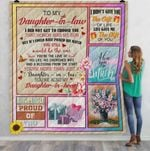 Personalized To My Daughter-In-Law Quilt Blanket You're Also My Daughter In Heart Great Customized Blanket Gifts For Birthday Christmas Thanksgiving