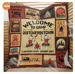 Welcome To Camp Quitcherbitchin A Certified Happy Camper Area Quilt Blanket Great Customized Blanket Gifts For Birthday Christmas Thanksgiving