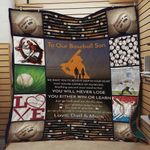 Personalized Baseball Family To Our Son Quilt Blanket From Dad And Mom You Will Never Lose Great Customized Blanket Gifts For Birthday Christmas Thanksgiving