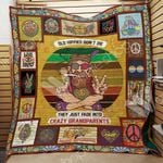 Hippie Old Hippie Don't Die Quilt Blanket Great Customized Gifts For Birthday Christmas Thanksgiving Perfect Gifts For Hippie