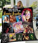 Janis Joplin New Quilt Blanket