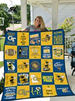 Georgia Tech Yellow Jackets Quilt Blanket 02