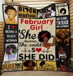 February Girl She Believed She Could So She Did Quilt Blanket Great Customized Blanket Gifts For Birthday Christmas Thanksgiving