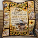 Sloth Sunflower Always Be Yourself Unless You Can Be A Sloth Then Always Be A Sloth Quilt Blanket Great Customized Blanket Gifts For Birthday Christmas Thanksgiving