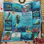 Scuba Diving The Ocean Stirs The Heart Inspires The Imagination And Bring Eternal Joy To The Soul Quilt Blanket Great Customized Blanket Gifts For Birthday Christmas Thanksgiving