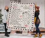 Personalized Air Mail To My Wife Quilt Blanket From Husband Never Forget How Special You Are To Me I Love You Great Customized Blanket Gifts For Birthday Christmas Thanksgiving