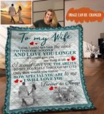 Personalized To My Wife Quilt Blanket From Husband I Will Love You Forever Great Customized Blanket Gifts For Birthday Christmas Thanksgiving