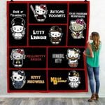Ll – Hello Kitty Horror Movies Quilt Blanket