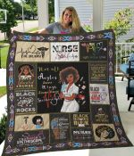 Black Nurse Not All Angels Have Wings Some Have Stethoscope Quilt Blanket