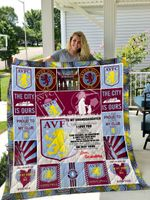 Personalized Aston Villa F.C To My Granddaughter From Grandma Remember How Much I Love You Quilt Blanket Great Customized Gifts For Birthday Christmas Thanksgiving Perfect Gifts For Soccer Lover