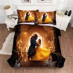 Beauty And The Beast Duvet Cover Bedding Set